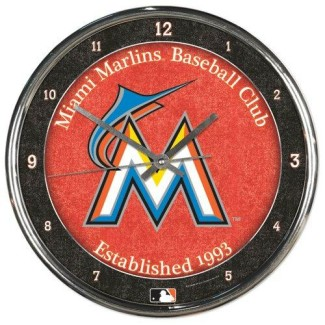 Miami Marlins Chrome Clock