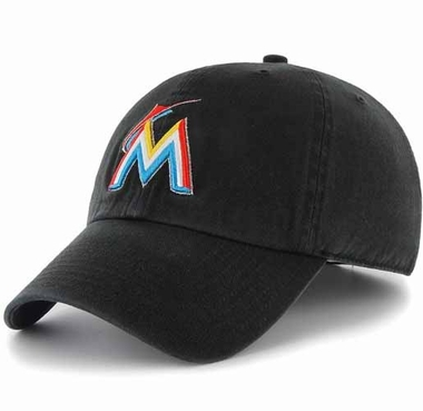 Miami Marlins Clean Up Adjustable Hat - Black