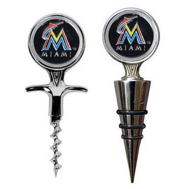 Miami Marlins Corkscrew and Stopper Gift Set