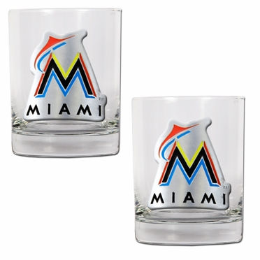 Miami Marlins Double Rocks Set