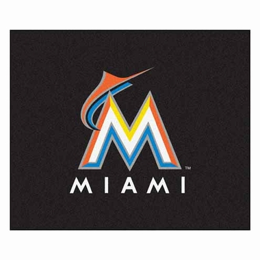 Miami Marlins Economy 5 Foot x 6 Foot Mat