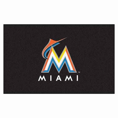 Miami Marlins Economy 5 Foot x 8 Foot Mat