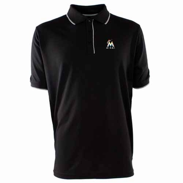 Miami Marlins Mens Elite Polo Shirt (Team Color: Black)