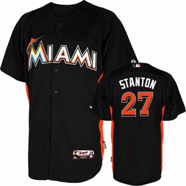 Miami Marlins Giancarlo Stanton YOUTH Cool Base Batting Practice Jersey
