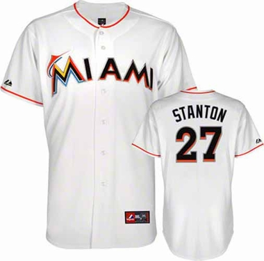 Miami Marlins Giancarlo Stanton YOUTH Replica Jersey - White