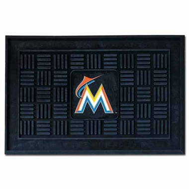 Miami Marlins Heavy Duty Vinyl Doormat