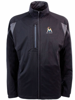 Miami Marlins Mens Highland Water Resistant Jacket (Team Color: Black)
