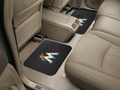 Miami Marlins SET OF 2 Heavy Duty Vinyl Rear Car Mats