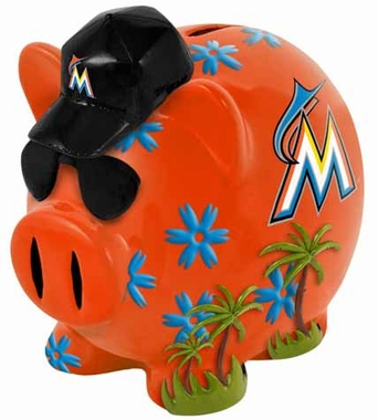 Miami Marlins Large Thematic Piggy Bank