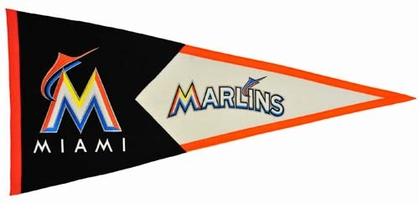Miami Marlins Large Wool Pennant