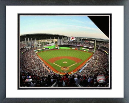 Miami Marlins Marlins Park Inaugural Game 2012 16x20 Framed and Double-Matted Photo