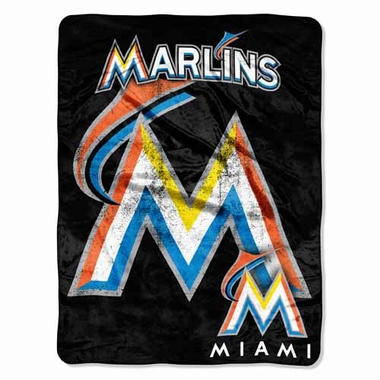 Miami Marlins Microfiber Lightweight Blanket