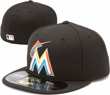 Miami Marlins New Era 59Fifty Authentic Exact Fit Baseball Cap
