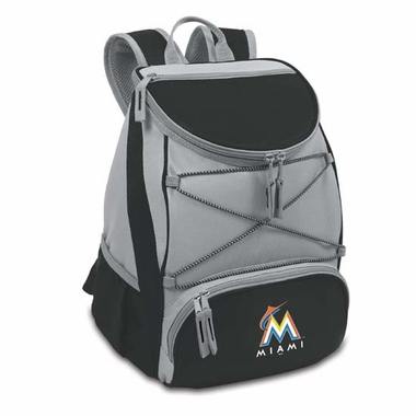 Miami Marlins PTX Backpack Cooler (Black)