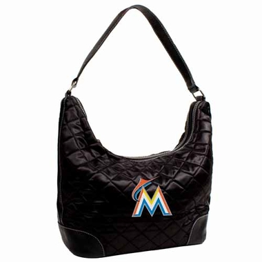 Miami Marlins Quilted Hobo Purse