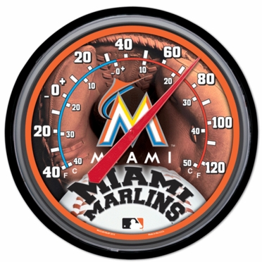 Miami Marlins Round Wall Thermometer