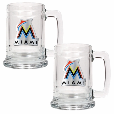 Miami Marlins Set of 2 15 oz. Tankards