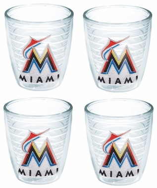 Miami Marlins Set of FOUR 12 oz. Tervis Tumblers