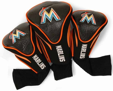 Miami Marlins Set of Three Contour Headcovers