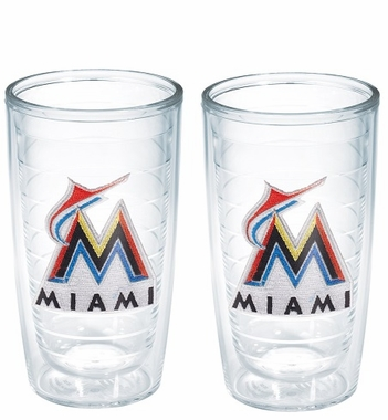 Miami Marlins Set of TWO 16 oz. Tervis Tumblers