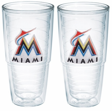 "Miami Marlins Set of TWO 24 oz. ""Big T"" Tervis Tumblers"