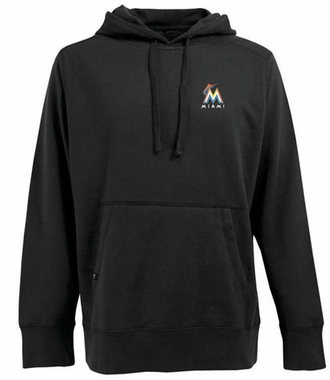 Miami Marlins Mens Signature Hooded Sweatshirt (Team Color: Black)