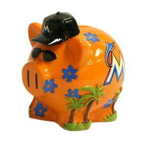 Miami Marlins Piggy Bank - Thematic Small