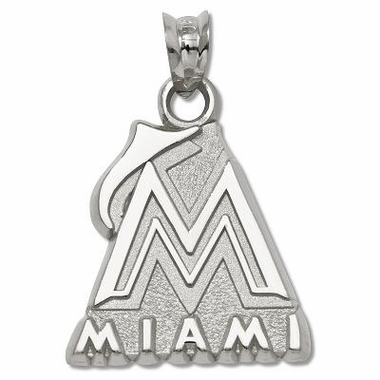 Miami Marlins Sterling Silver Pendant