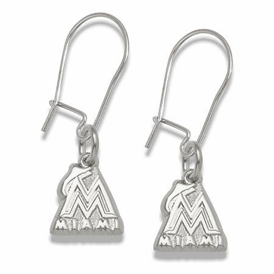 Miami Marlins Sterling Silver Post or Dangle Earrings