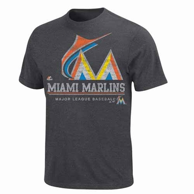 Miami Marlins The Submariner Charcoal Heathered T-Shirt