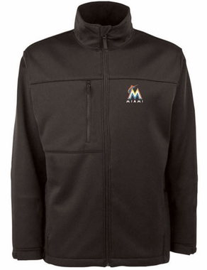 Miami Marlins Mens Traverse Jacket (Team Color: Black)