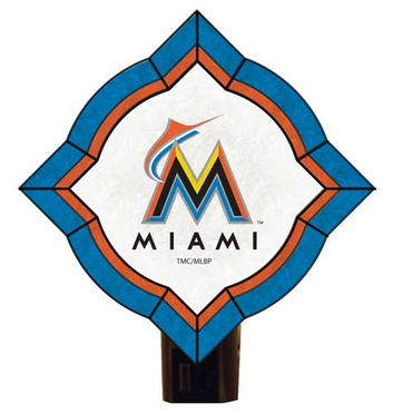 Miami Marlins Vintage Art Glass Nightlight