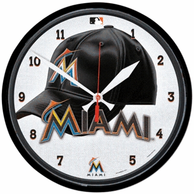 Miami Marlins Wall Clock