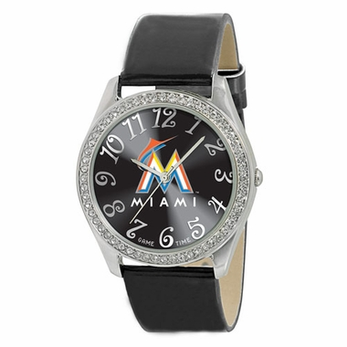 Miami Marlins Women's Glitz Watch
