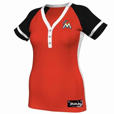 Miami Marlins Womens League Diva Fashion Top Shirt