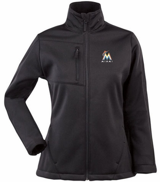 Miami Marlins Womens Traverse Jacket (Team Color: Black)