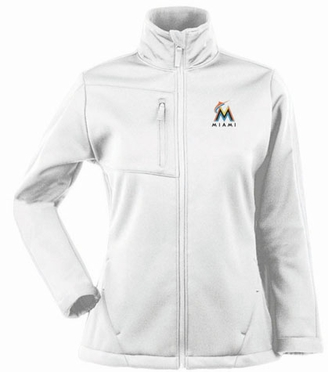 Miami Marlins Womens Traverse Jacket (Color: White)