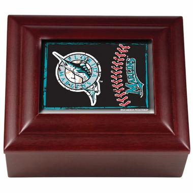 Florida Marlins Wooden Keepsake Box