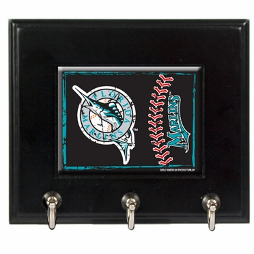 Florida Marlins Wooden Keyhook Rack