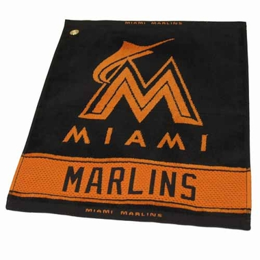 Miami Marlins Woven Golf Towel