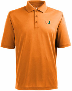Miami Mens Pique Xtra Lite Polo Shirt (Team Color: Orange) - Medium