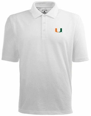 Miami Mens Pique Xtra Lite Polo Shirt (Color: White)