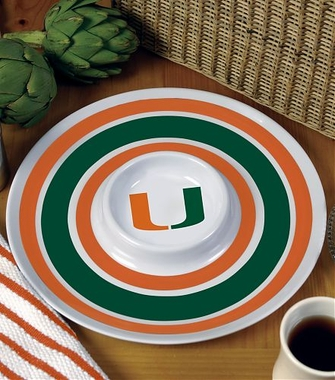Miami Plastic Chip and Dip Plate