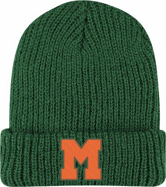 Miami Retro Yarn Cuffed Knit Hat