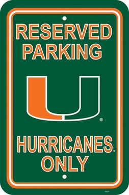 Miami Plastic Parking Sign (P)