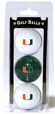Miami Set of 3 Multicolor Golf Balls