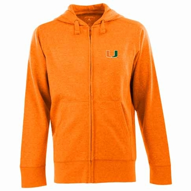 Miami Mens Signature Full Zip Hooded Sweatshirt (Team Color: Orange)