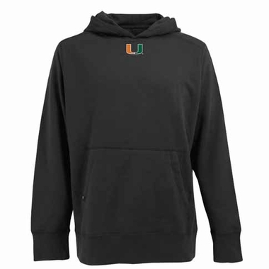 Miami Mens Signature Hooded Sweatshirt (Color: Black)