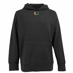 Miami Mens Signature Hooded Sweatshirt (Alternate Color: Black) - Medium