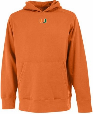 Miami Mens Signature Hooded Sweatshirt (Team Color: Orange)